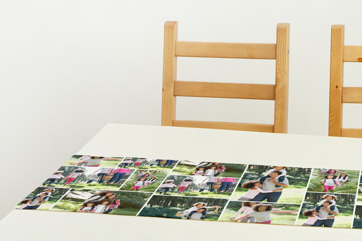 Custom table runners from Collage.com