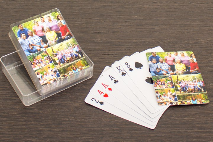Card deck with family photos