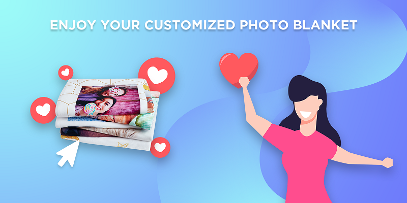 enjoy your custom photo blanket