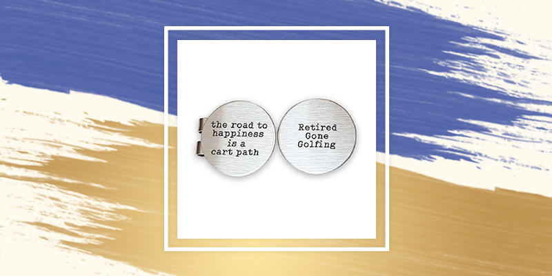 Golf Ball Markers are a unique retirement gift for dads who love to golf