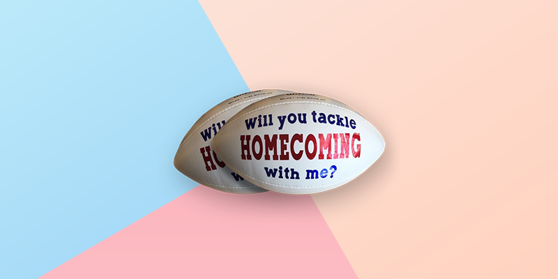 Sports Themed Homecoming Proposal Idea