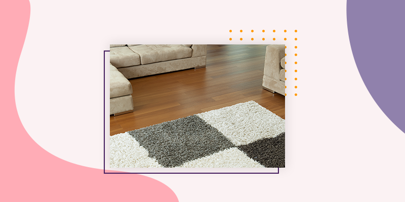 add warmth with rugs