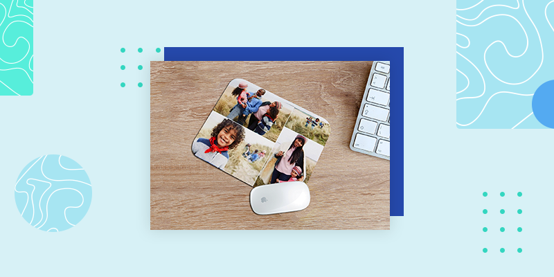 Collage.com Custom Photo Mousepad (Unique Thank You Gift)