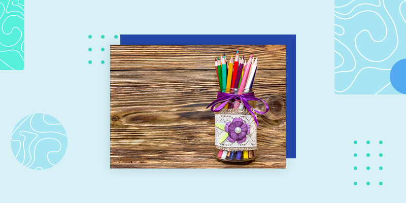 Mason Jar Pencil Holder (DIY Thank You Gifts for Teachers)