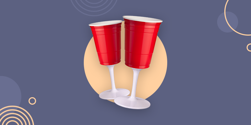 Red Solo Cup Wine Glass