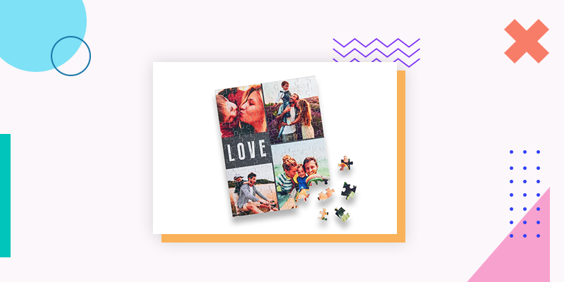 Collage.com Custom Photo Puzzle (Personalized Family Reunion Gift)