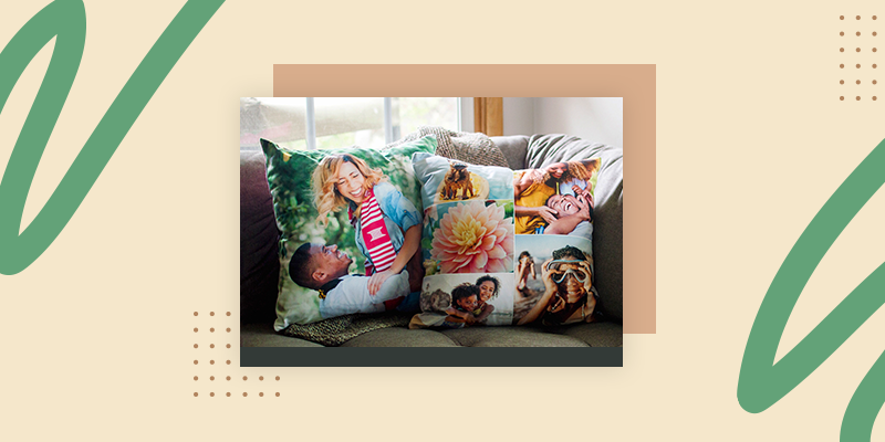 Collage.com Custom Photo Throw Pillow (Personalized Welcome Home Gifts for Him)