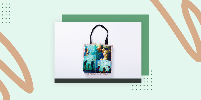Collage.com Custom Photo Tote Bag (Personalized Family Reunion Gift Bag Ideas)