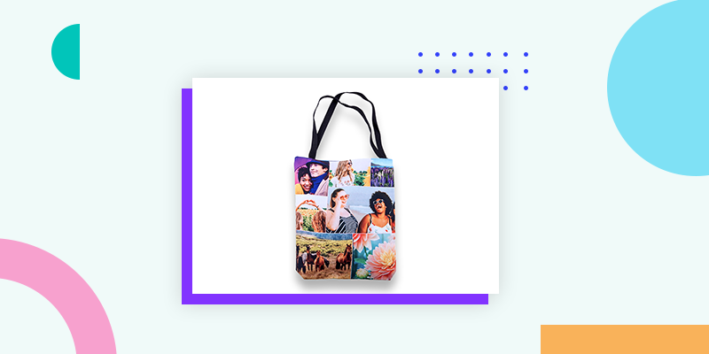 Collage.com Custom Photo Tote Bag (Personalized Small Gift Ideas for Coworkers)