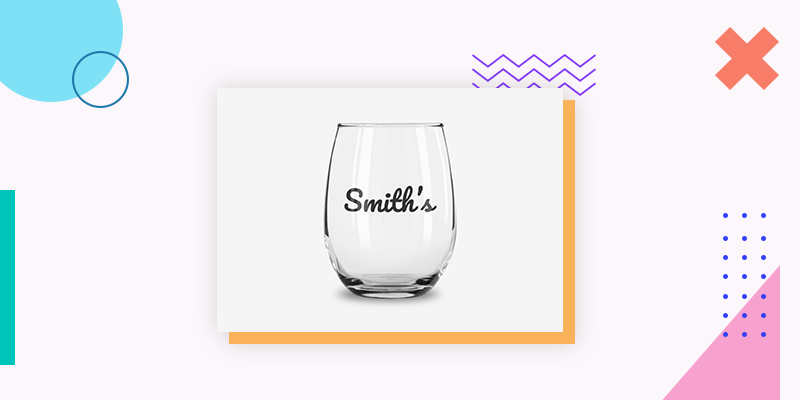 Engraved Stemless Wine Glass (Unique Family Reunion Gift Ideas)