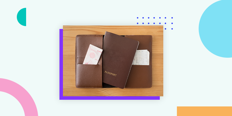 Leather Travel Passport Holder (Other Ideas for Coworkers Gift)