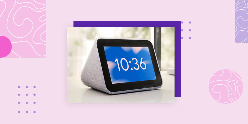 Lenovo Smart Clock with Google Assistant (Popular Housewarming Gifts)