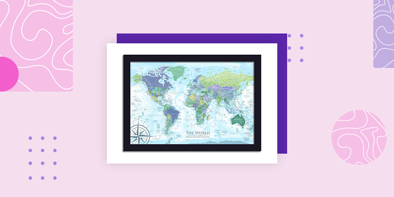 Our World Travel Maps (Personalized Housewarming Gifts for Someone Who Has Everything)