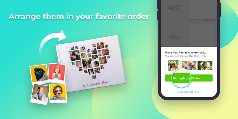 Arrange them in you favorite order, and choose from our photo book templates