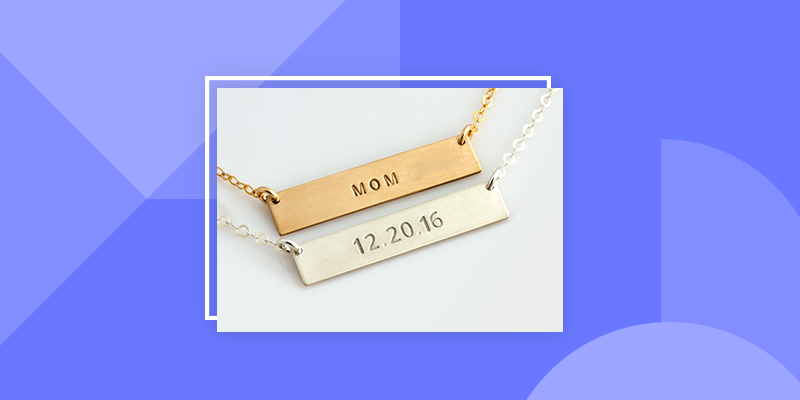 Cute Personalized Bar Necklace