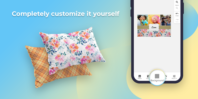 Use our photo pillowcase templates, or completely customize it yourself