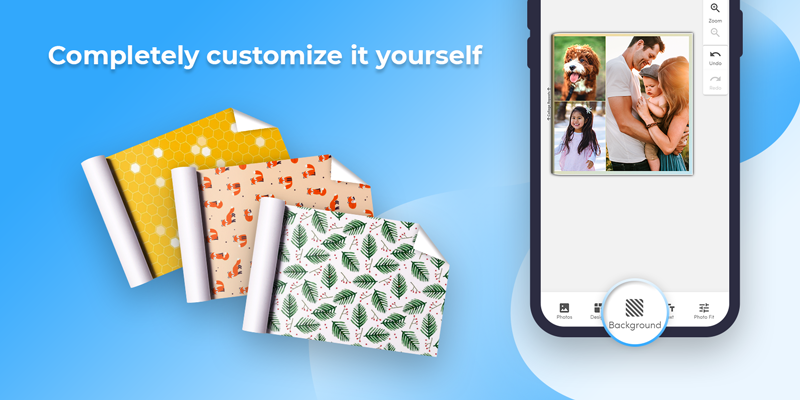 Add custom backgrounds to your wrapping paper