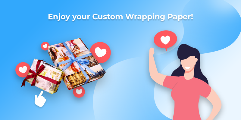 Enjoy your custom wrapping paper you made