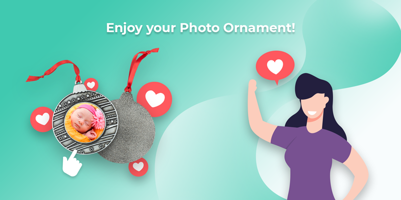 Enjoy the photo ornament you created yourself!