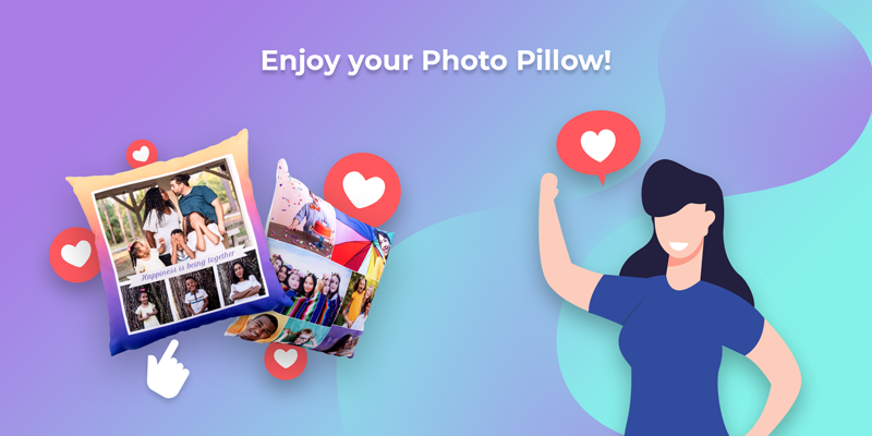 Enjoy the photo pillow you made yourself!