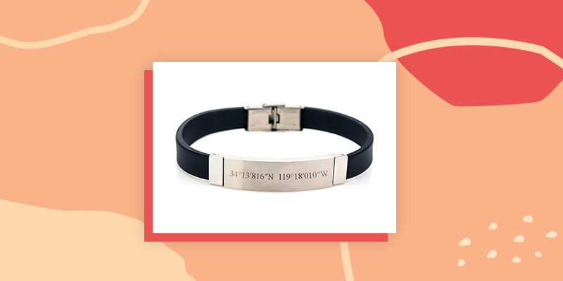 Personalized Coordinate Bracelet
