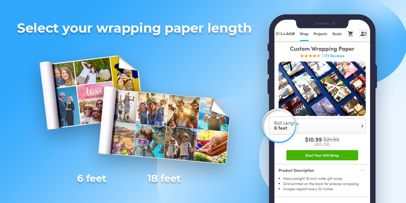 Decide how much wrapping paper you would like