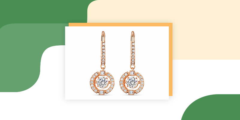 Sparkling Dance Pierced Earrings