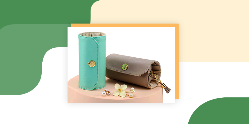 Travel Jewelry Roll Bag