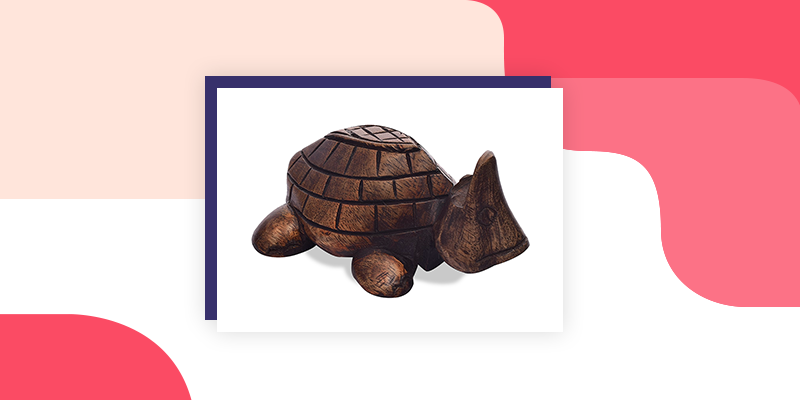 Wooden Turtle Eye Glass Holder