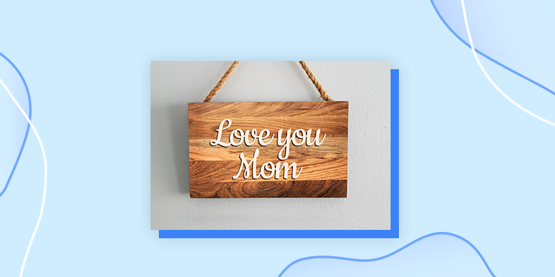 A Loving Wooden Sign