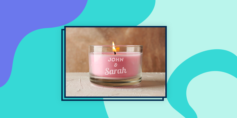 A Personalized Glass Candle Holder