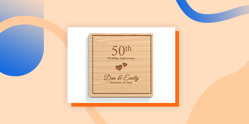 A Wooden Anniversary Plaque