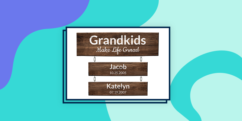 Grandchildren Wooden Signs