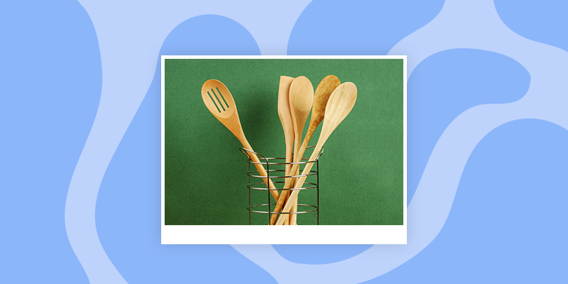 Wooden Kitchen Serving Spoons