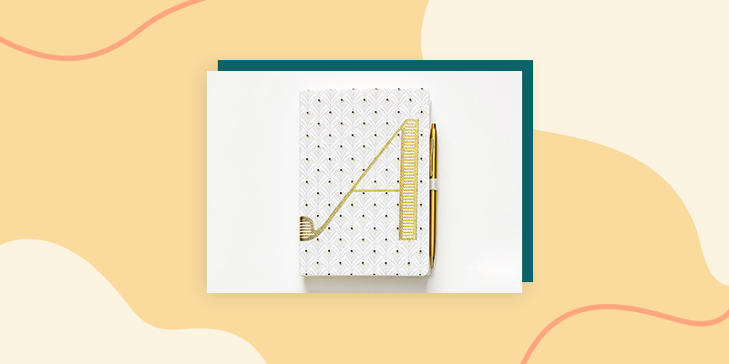 Gold Letter Monogram Journal