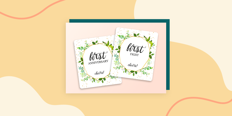 Milestone Wedding Labels