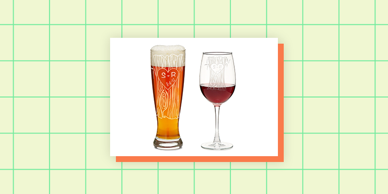 Personalized Beer & Wine Glass Set