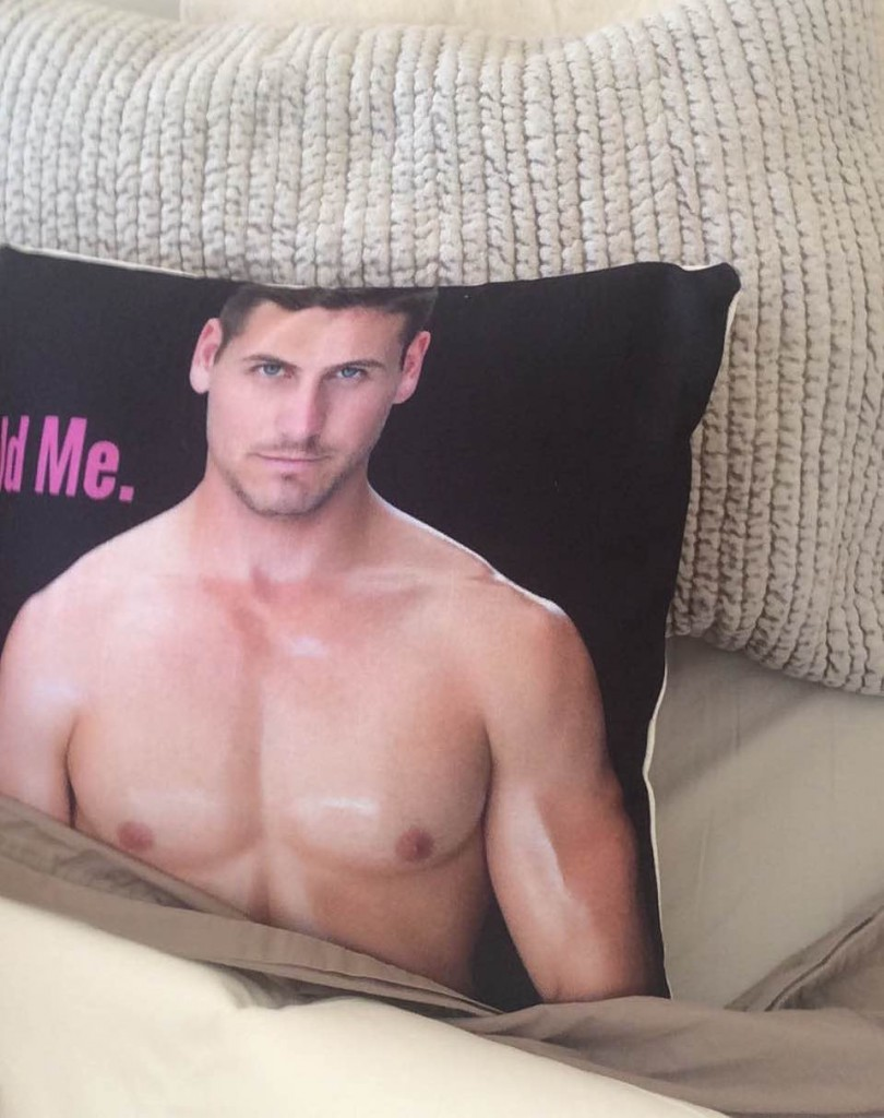 boyfriend pillow in bed