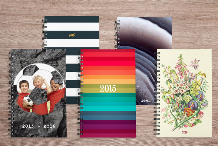 Personalized notebooks from Collage.com